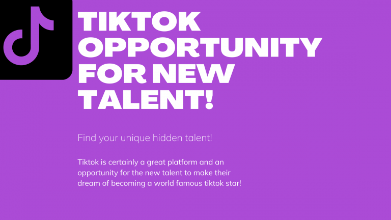 How tiktok is helpful for new talent?