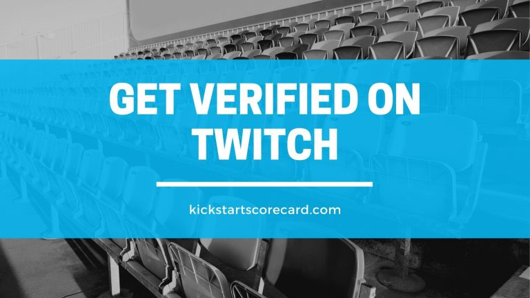How to get verified on Twitch?